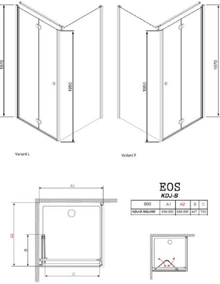 Radaway dušas stūris EOS KDJ-B - 5