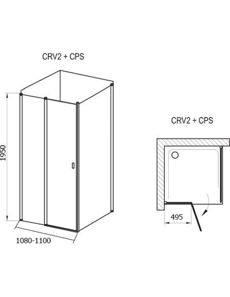 Ravak dušas stūris CRV2-110+CPS - 4