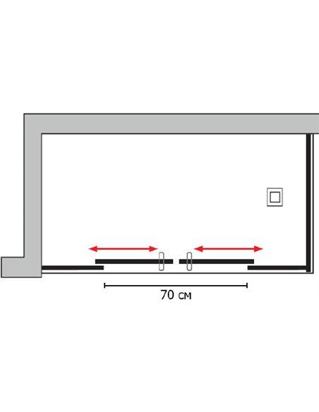 GuteWetter dušas stūris Slide Rectan GK-865 kreisā - 7