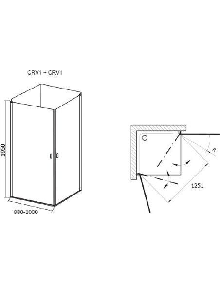 Ravak dušas stūris CRV1-100+CRV1 - 5