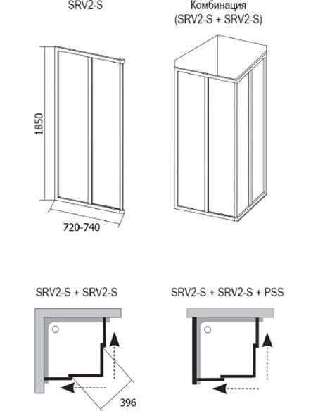 Ravak dušas stūris SRV2-75 S - 5