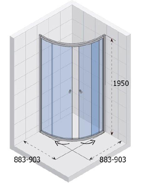 Riho dušas stūris Lucena GK32200 - 4