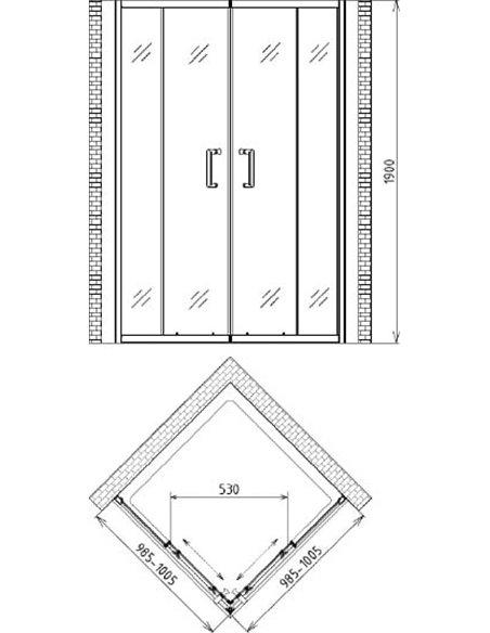 Gemy dušas stūris Victoria S30162 - 5
