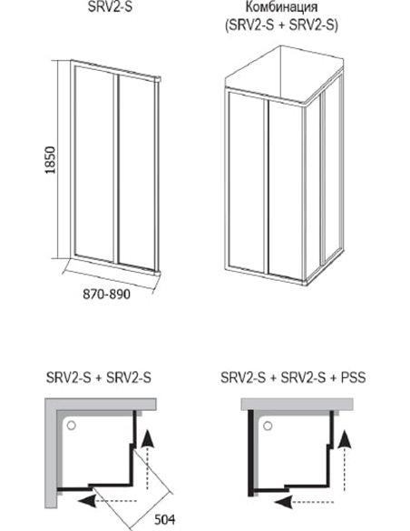 Ravak dušas stūris SRV2-90 S - 6
