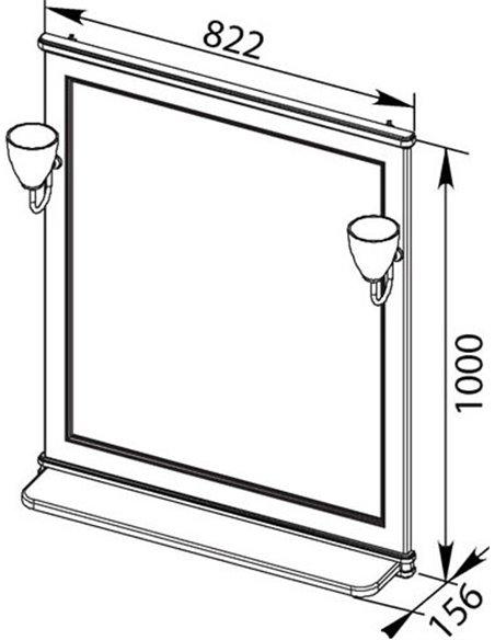 Aquanet spogulis Валенса 80 - 10