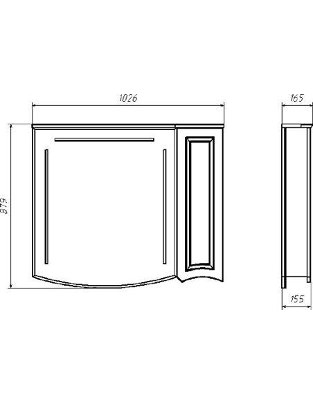 ASB-Woodline spoguļu skapītis Эмили 105 - 4