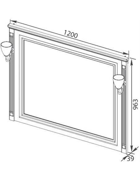 Aquanet spogulis Паола 120 - 8