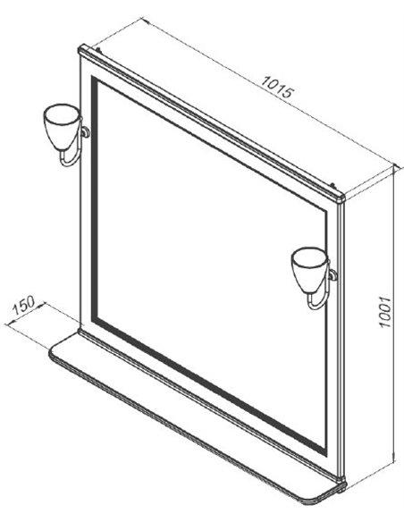 Aquanet spogulis Валенса 105 - 2