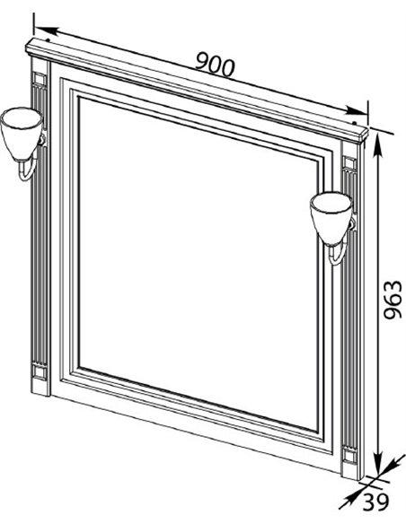 Aquanet spogulis Паола 90 - 8