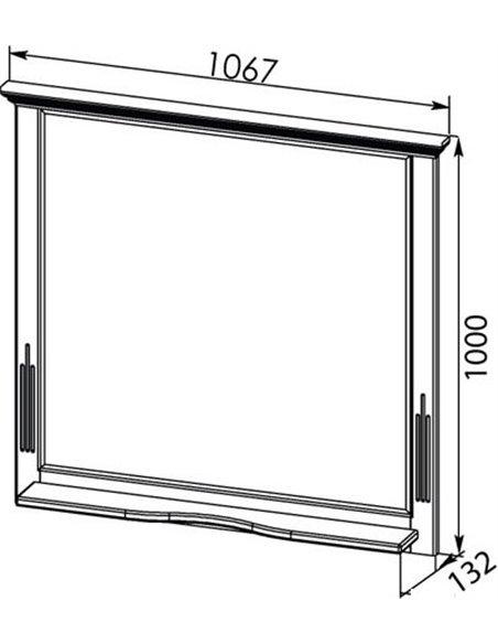 Aquanet spogulis Лагуна 105 - 7