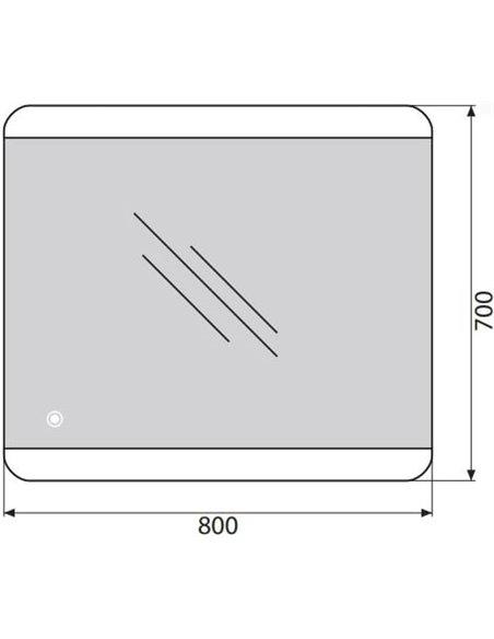 BelBagno spogulis SPC-CEZ-800-700-LED-TCH - 5