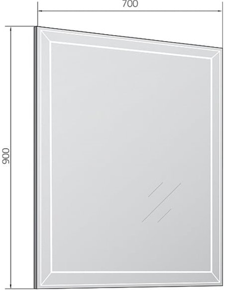 Marka One spogulis Classic 2 - 4
