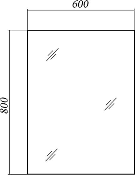 Акватон spogulis Брук 60 - 5