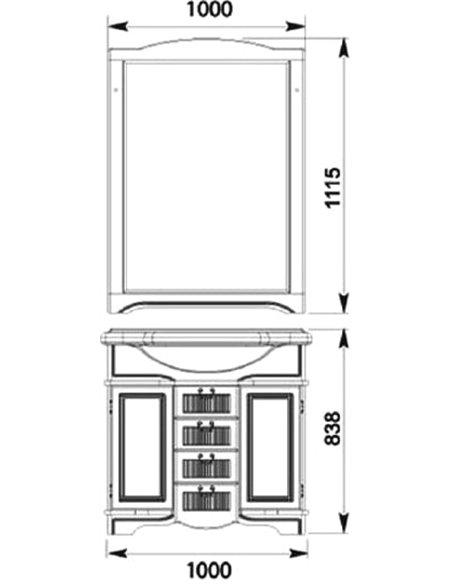 Aquanet spogulis Луис 110 - 3