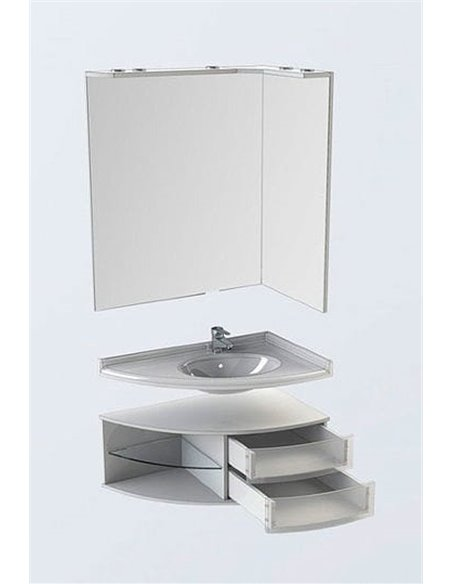 Aquanet spogulis Корнер 80 - 8