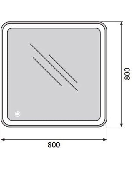 BelBagno spogulis SPC-MAR-800-800-LED-TCH - 5