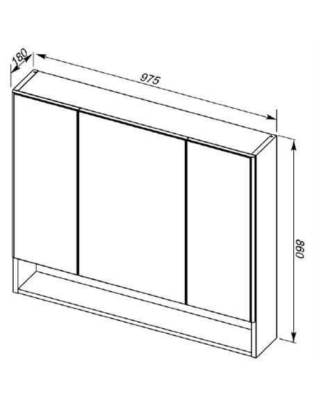 Aquanet spoguļu skapītis Виго 100 - 14