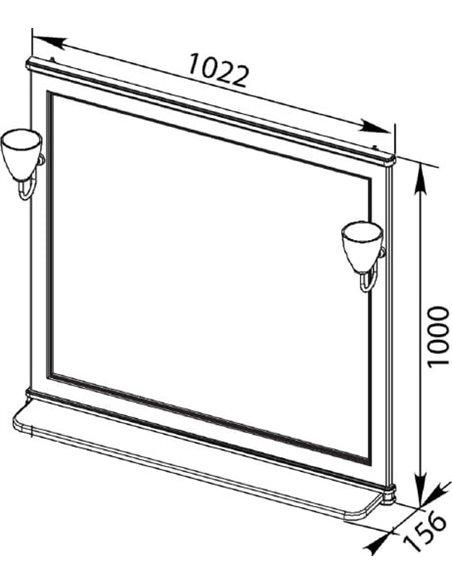 Aquanet spogulis Валенса 100 - 6