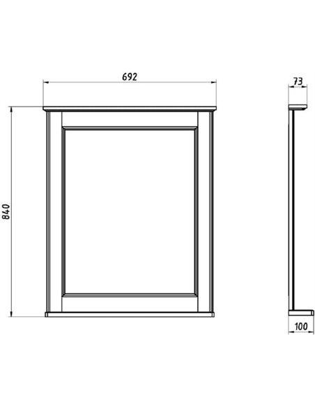 ASB-Woodline spogulis Прато 70 - 8