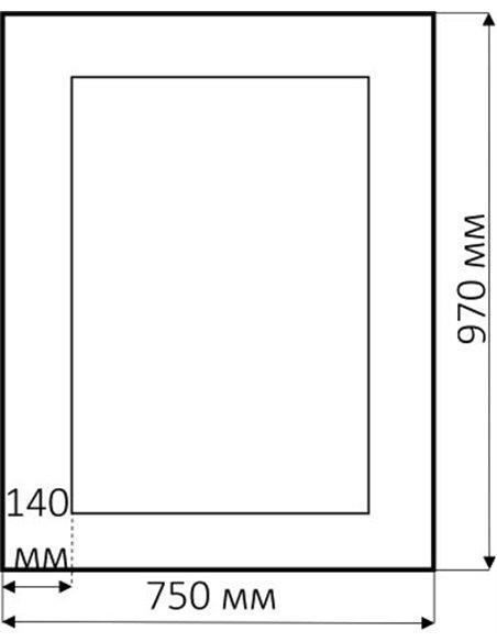 Misty spogulis Аврора R.1021.BA.ZF - 3