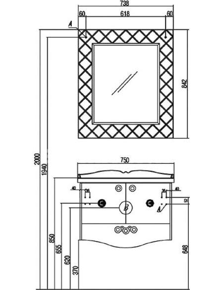 Акватон spogulis Венеция 75 - 4