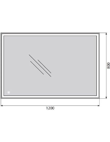 BelBagno spogulis SPC-GRT-1200-800-LED-TCH - 4