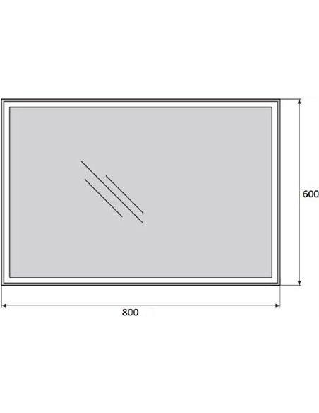 BelBagno spogulis SPC-GRT-600-800-LED-BTN - 4