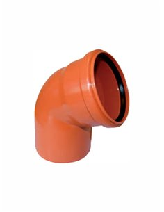 Ārdarbu līkums PVC DN110/67^ 851 - 1