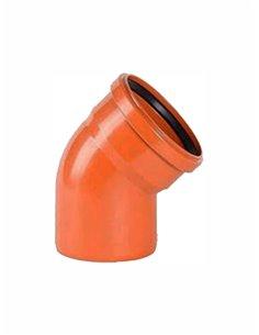 Ārdarbu līkums PVC DN125/45^ 851 - 1