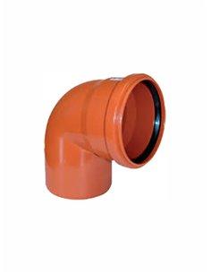 Ārdarbu līkums PVC DN125/87^ 851 - 1