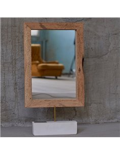 """Honey Furniture spogulis """"Bella"""" no atjaunota koka - 1"""