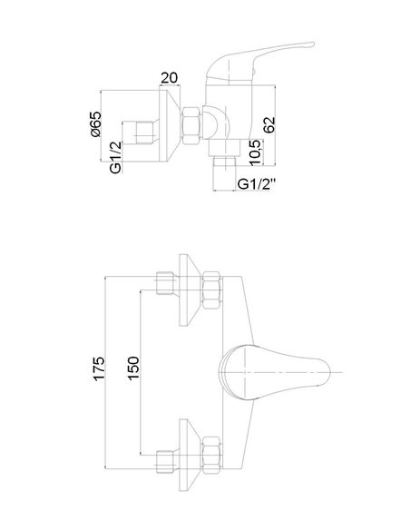 Dušas jaucējkrāns ar komplektu MG-6241 MAGMA URANS - 2