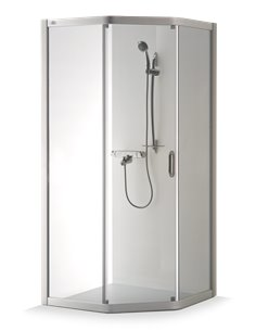 Baltijos Brasta shower enclosure VAIVA 90x80 transparent glass - 1