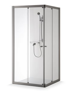 Baltijos Brasta shower enclosure RASA 100x100 transparent glass - 1