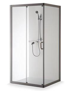Baltijos Brasta duškabīne 110x80 LAIMA caurspidīgs stikls - 1