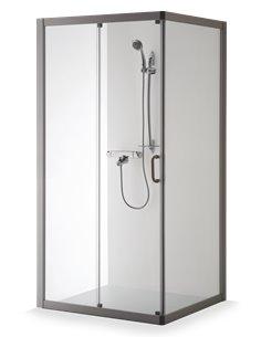 Baltijos Brasta duškabīne 120x80 LAIMA caurspidīgs stikls - 1