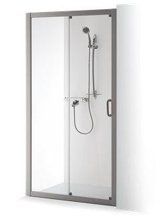 Baltijos Brasta dušas durvis 130 SVAJA caurspidīgs stikls - 1