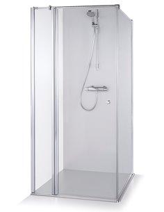 Baltijos Brasta shower enclosure KARINA 80x80 transparent glass - 1