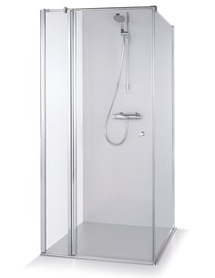 Baltijos Brasta shower enclosure KARINA 90x90 transparent glass - 1