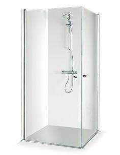 Baltijos Brasta shower enclosure VIKTORIJA 90x90 transparent glass - 1