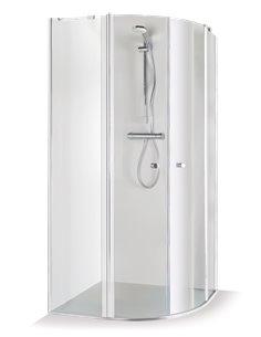 Baltijos Brasta shower enclosure SONATA 80x80 transparent glass - 1
