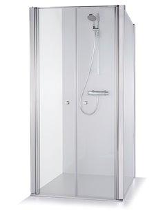 Baltijos Brasta duškabīne ERIKA 100x100 caurspidīgs stikls - 1