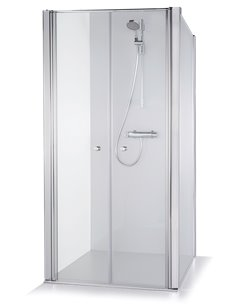 Baltijos Brasta shower enclosure ERIKA 100x100 transparent glass - 1