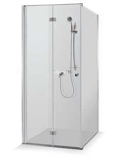 Baltijos Brasta shower enclosure SANDRA 80x80 transparent glass - 1