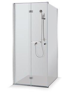 Baltijos Brasta shower enclosure SANDRA 100x100 transparent glass - 1