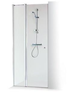Baltijos Brasta dušas durvis GRETA PLUS 120 caurspidīgs stikls - 1