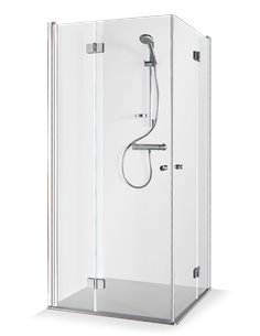 Baltijos Brasta shower enclosure SIMONA 80x80 transparent glass - 1