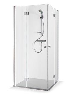 Baltijos Brasta shower enclosure SIMONA 100x100 transparent glass - 1