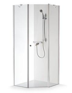 Baltijos Brasta shower enclosure LINA 100x100 transparent glass - 1