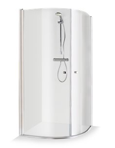 Baltijos Brasta shower enclosure KATARINA 90x90 transparent glass - 1